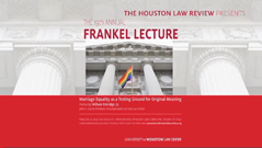 The 19th Annual Frankel Lecture