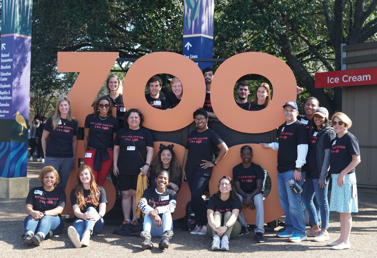 The University of Houston Law Center's participation in the Houston Zoo's Zoo Boo event was organized by Associate Dean of Alumni and Community Relations Sondra Tennessee.