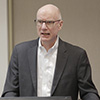 DePaul College of Law Professor Mark Weber spoke in the Hendricks Heritage Room at the University of Houston Law Center as the latest presenter in the Health Law & Policy Institute's 2019-2020 Health Law Speaker Series.